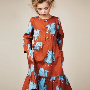 Pegasus Flounce Dress - Brown