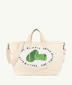 Big Canvas Tote Bag - Raw White Dog