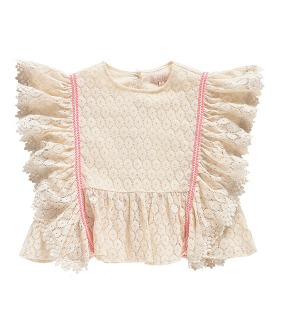 Paola Top - Cream Flower Lace