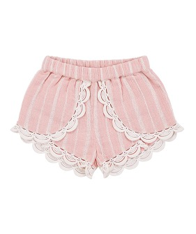 Kai Shorts - Blush Stripes ★ONLY 4Y★