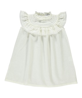 Christina Dress - Natural white