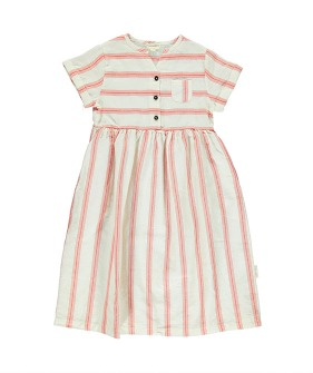 Long Dress - White W/ Red Stripes ★ONLY 3Y★