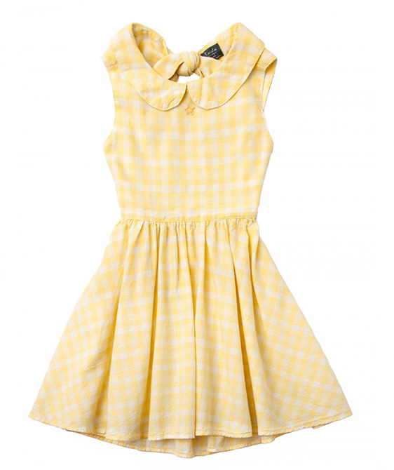 Vichy Squares Yellow Dress #S33119