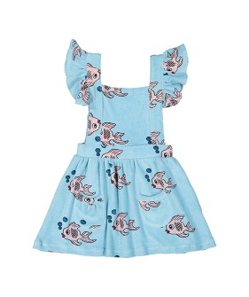Terry Ruffle Play Dress - Blue Fish ★ONLY 6Y★