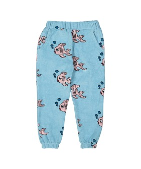 Terry 80's Sweat Pants - Blue Fish