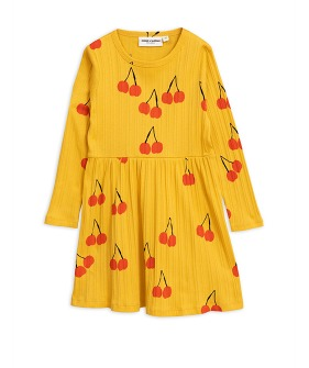 Cherry LS Dress - Yellow