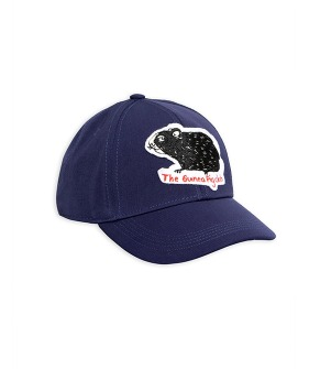 [균일가] Guinea Pig Felt Patch Cap -  Navy