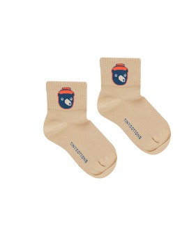 Bear Medium Socks - Sand/True Navy