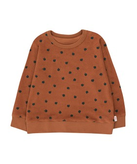 Small Apples Sweatshirt - Brown/Bottle Green (Baby&Kid)