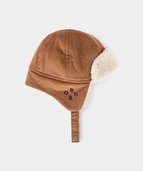 Khaki Sheepskin Baby Hat#278