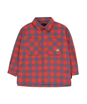 "Small Check ""Cat"" Shirt - Burgundy/Dark Lilac"