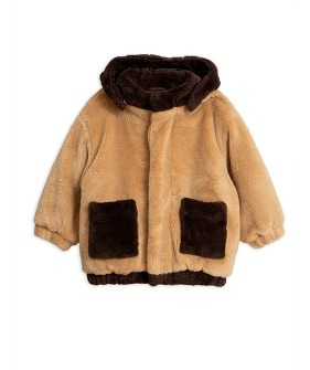 Faux Fur Hooded Jacket -  Beige ★ONLY 80/86★