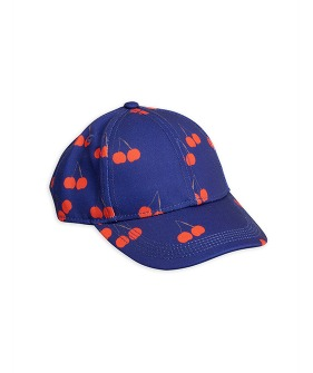 Cherry Printed Cap - Blue