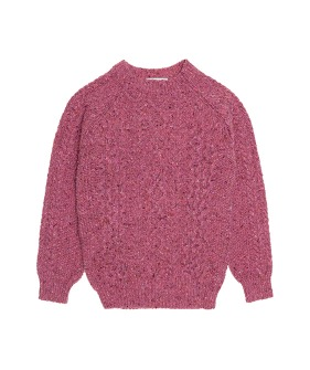 Noel Tweed Cable Jumper  - Pink ★ONLY 8Y★