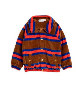 Velour Stripe Jacket - Brown
