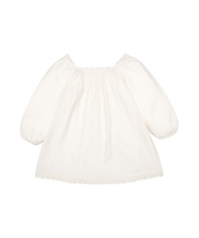 Victoria Dress With Lace & Embroidery - Ecru  ★ONLY 8Y★