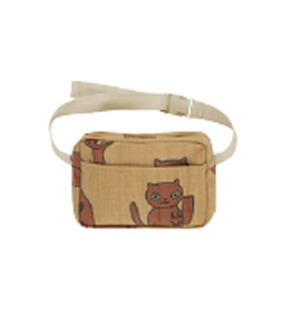 Cats Fanny Bag - Sand/Brown
