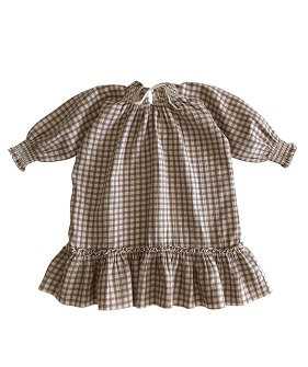 Smocked Dress - Check ★ONLY 8-10Y★