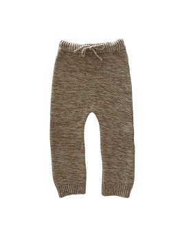Knit Trouser - Natural + Chocolate