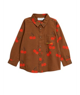 Cherry Woven Shirt -  Brown