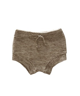 Knit Bloomer - Natural + Chocolate ★ONLY 18-24M★