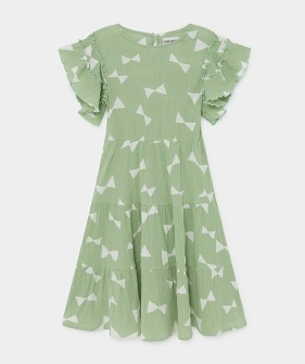 All Over Bow Flamenco Dress (Kid) #01124 ★ONLY 2-3Y★