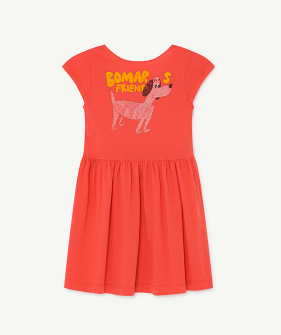 [EXCLUSIVE] Butterfly Kids Dress - Red Dog