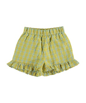 Fraise Short Pants - Check Yellow ★ONLY 6Y★