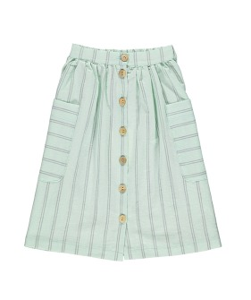 Long Skirt - Greenwater & Grey Stripes