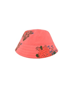 Flowers Bucket Hat - Light Red/Red