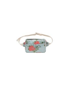 Flowers Fanny Bag - Sea Green/Red