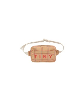 Check Fanny Bag - Toffee/Red