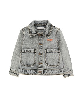 Denim Jacket - Snowy Black