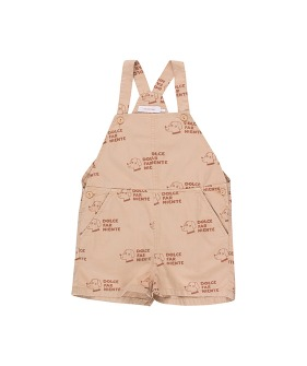 Dogs Romper - Light Nude/Cinnamon