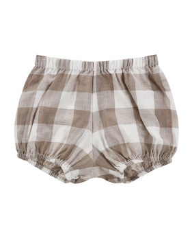 Poppy Bloomers - Textured Gingham In Cinder