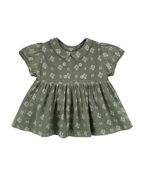 Isabella Blouse - Sedum Green Floral ★ONLY 5-6Y★