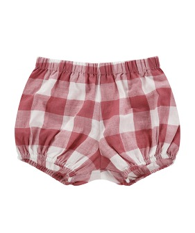 Poppy Bloomers - Textured Gingham In Mulberry
