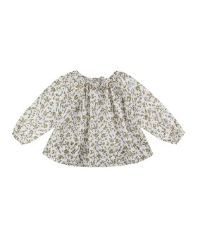 Olive Smock - Yellow meadow Floral ★ONLY 2-3Y★