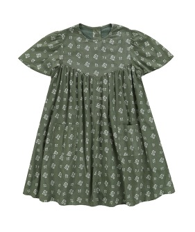 Mary Dress - Floral Green