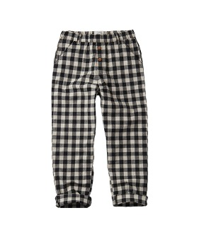 Pants Block Check - Black ★ONLY 18-24M★