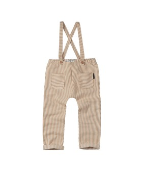 Pants suspenders Pinstripe - Summer white ★ONLY 18-24M★