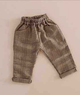 Long Trouser - Navy & Brown check ★ONLY 4-5Y★