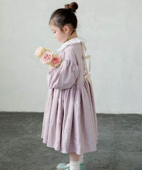 Long-Sleeve Dress - Lavender