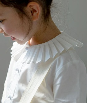 Pleated Detail Shirt - White ★ONLY 120★