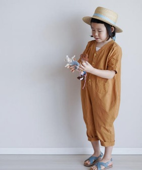 Cotton Jumpsuit - Punpkin ★ONLY 110★