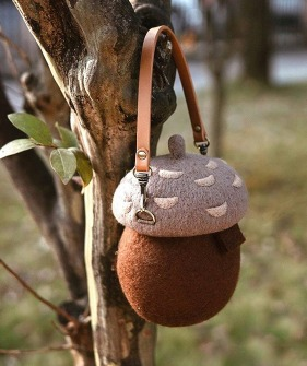 Acorn Bag (Handmade)- Brown