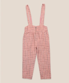 Grid Braces Pants #01097