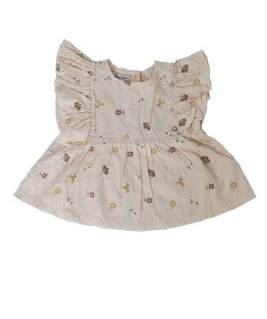 Uniqua Top - Dusty Pink With Flower Badge