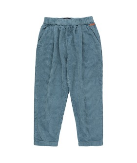 Solid Pleated Pant - Sea Blue
