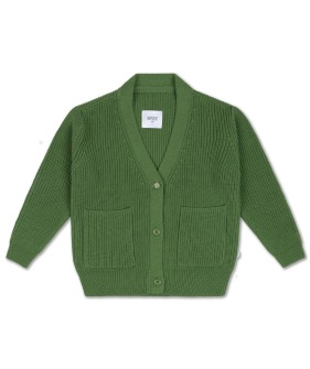 Knit Granpa Cardigan - Hunter Green